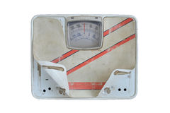 Old bathroom scale Stock Images