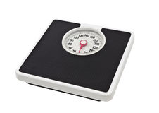 Old Bathroom Scale Isolated On White Royalty Free Stock Photo