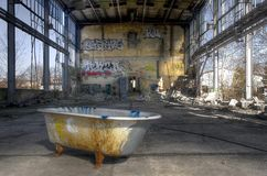 Old bathtub Royalty Free Stock Images