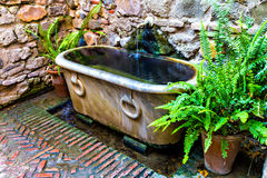 Old bathtub at Alcazaba, Malaga Royalty Free Stock Photos