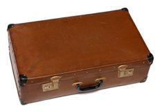 Old battered brown case Stock Photo