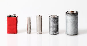 Old batteries Royalty Free Stock Photography