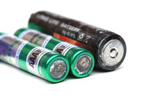 Old battery leak Royalty Free Stock Photos