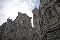Old Battistero building center of firenze in italy Royalty Free Stock Images