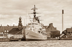 Old battle ship in Copenhagen, Denmark Stock Photo