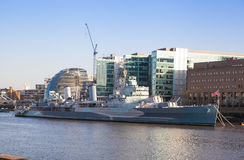 Old battle ship.  London Royalty Free Stock Photo