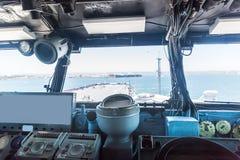 Old battleship control panel Stock Image