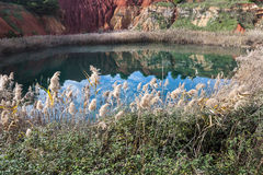 Old bauxite quarry in Salento Stock Photography