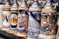 Old bavarian mugs Stock Image