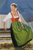 Old Bavarian woman in traditional dress Royalty Free Stock Photos