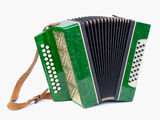 Old bayan (musical instrument as accordion) Stock Photos