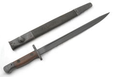 Old bayonet and scabbard Stock Photo
