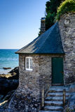 Old beach house, Mothecombe (Portrait mode) Stock Image