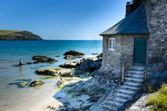 Old beach house, Mothecombe Stock Image