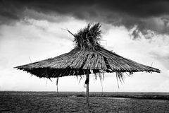 Old beach umbrella Stock Photography