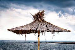 Old beach umbrella Royalty Free Stock Photos