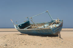 Old beached fishing Boat Royalty Free Stock Photos