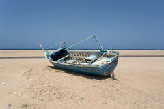 Old beached fishing Boat Stock Image