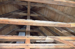 Old beams in the attic Royalty Free Stock Photography