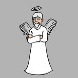 Old beard man angel Stock Photos