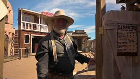 An actor dressed as a cowboy in Tombstone, Arizona