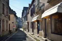 Old Bearn style buildings in the French town Royalty Free Stock Photo