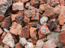 Old beaten bricks Royalty Free Stock Photos
