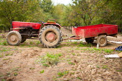 Old beaten tractor Royalty Free Stock Photo