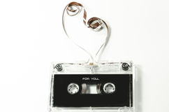 Old and beautiful audio tape Stock Photo