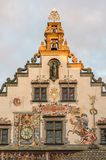 Old beautiful building in Lindau and painting wall Stock Image