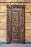 Old beautiful carved wooden doors Stock Image