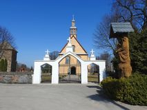 Old beautiful church and gate, Lithuania Royalty Free Stock Images