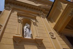 Old beautiful church in Italy Sanremo in summertime. royalty free stock photography