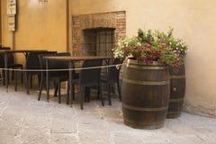 Old beautiful city in Tuscany, Montepulciano, Italy Stock Photos