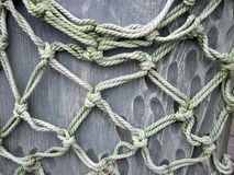 Old beautiful fishing net, Lithuania. Old nice and strong fishing net, can use as background royalty free stock image