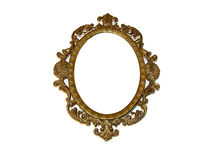 Old beautiful golden frame Stock Photography