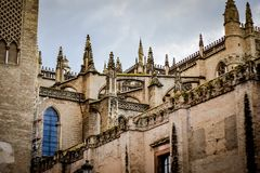 Old historic building in center of Seville, Spain Royalty Free Stock Photography