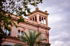 Old historic building in center of Seville, Spain Stock Images