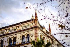 Old historic building in center of Seville, Spain Stock Photography