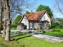 Old beautiful home and garden , Lithuania Stock Image