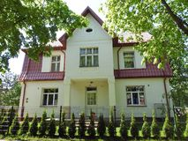 Old beautiful home, Lithuania Royalty Free Stock Image