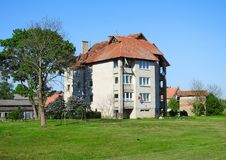 Old beautiful home in spring , Lithuania Stock Image