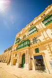 An old beautiful house in the centre of the capital city Valletta in Malta. An old beautiful house in the center of the capital city Valletta in Malta Royalty Free Stock Photography