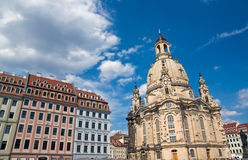 Old beautiful houses around the Frauenkirche Stock Photography