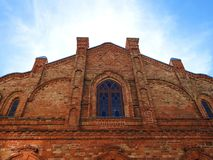 Old beautiful Jews synagogue  wall. Lithuania Royalty Free Stock Photography