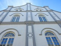 Old beautiful Jews synagogue wall . Lithuania Stock Photo