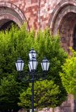 Old beautiful  lamppost in Yerevan. Royalty Free Stock Image