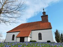 Old beautiful lutheran church, Lithuania Stock Photography