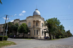 The old beautiful mansion of the Greek merchant in Sukhum. Abkhazia Stock Photo