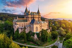 Free Old Beautiful Medieval Castle In Bojnice, Slovakia, Europe. UNESCO Heritage Landmark Stock Images - 186283874